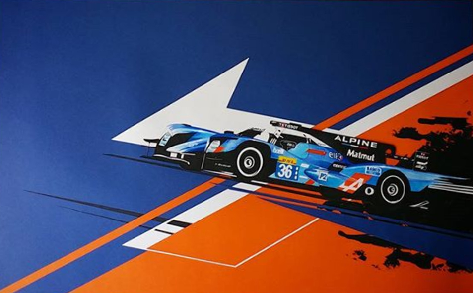 Alpine A460 David Donné illustration