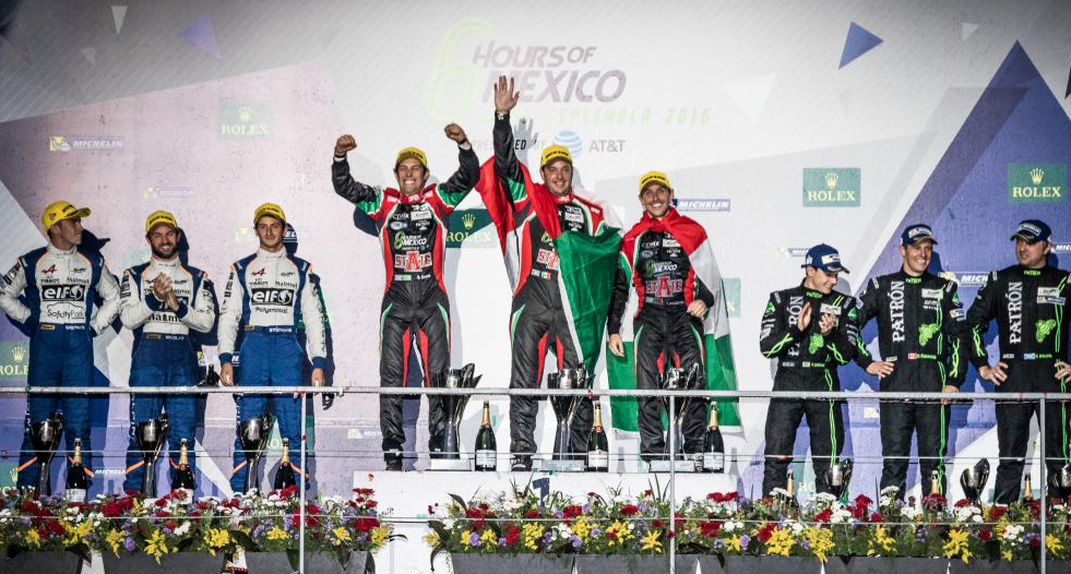 Alpine 36 WEC Mexico podium