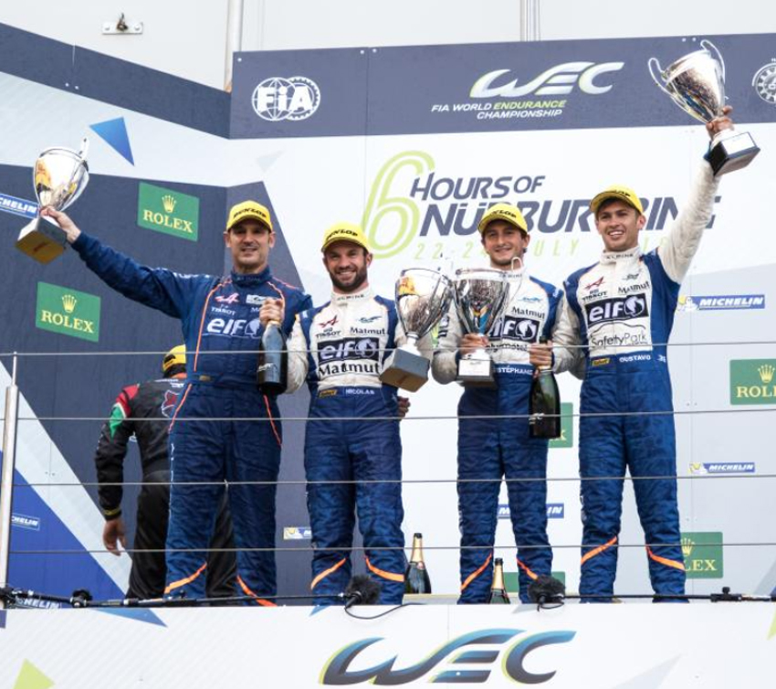 Alpine A460 36 Nurburgring podium