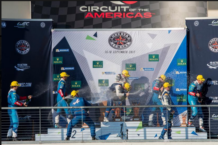 Alpine A470 WEC 2017 podium1