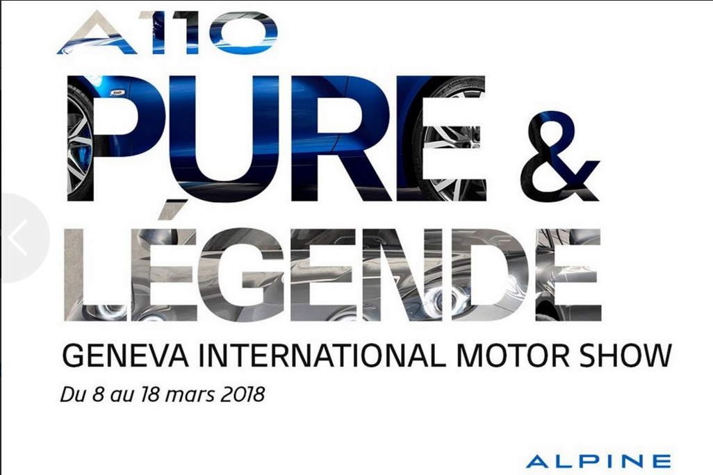 Alpine Pure Legende salon Geneve 2018