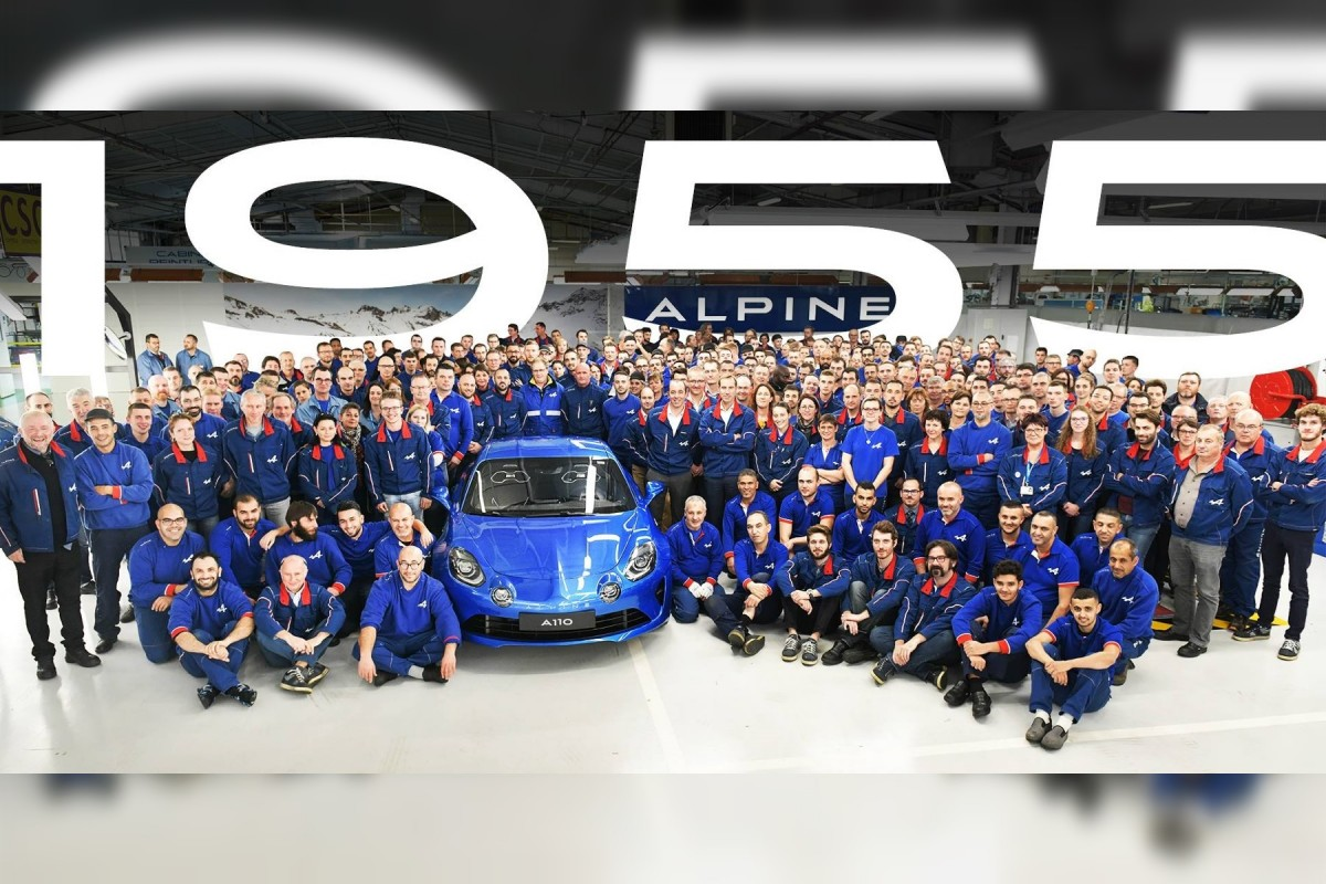 Fin production Alpine A110 premiere edition