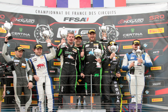 A110 GT4 Nogaro 2019 course1 podium Am min