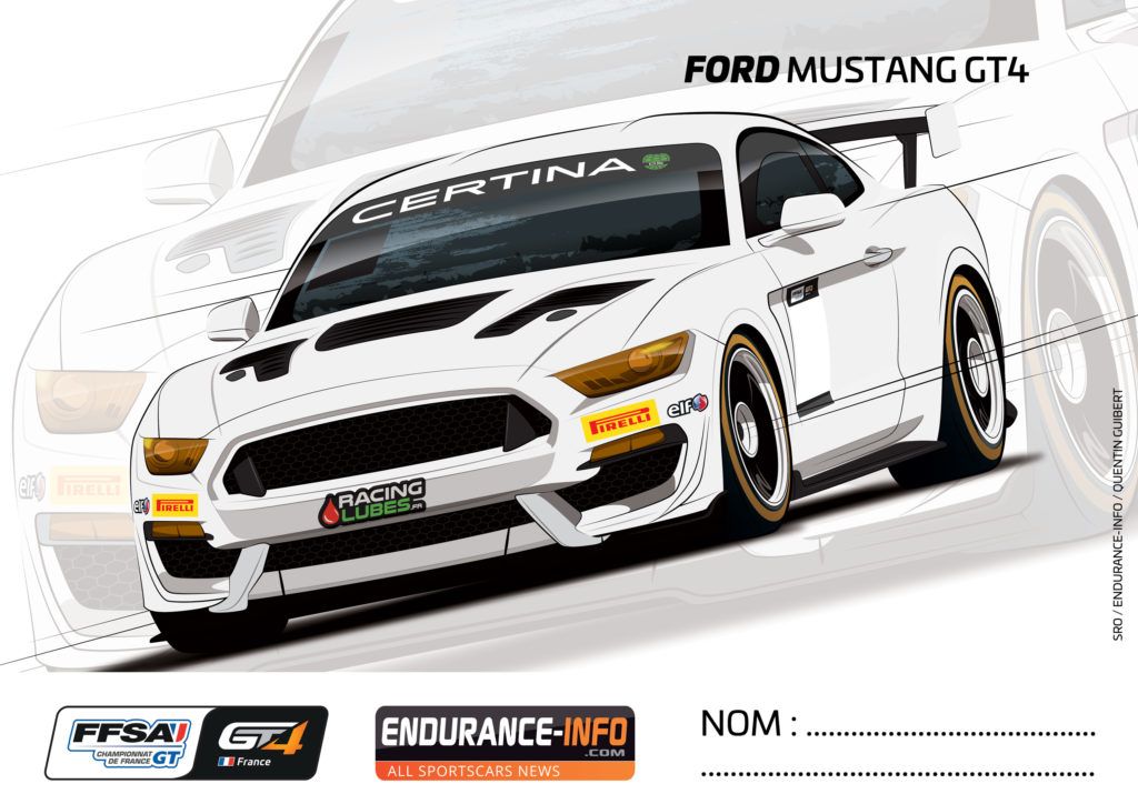 Ford GT4 A Colorier
