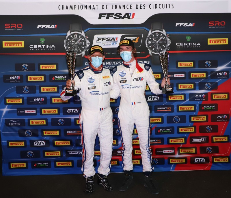 FFSA GT4 Magny cours 2020 C1 podium 2nds pro am