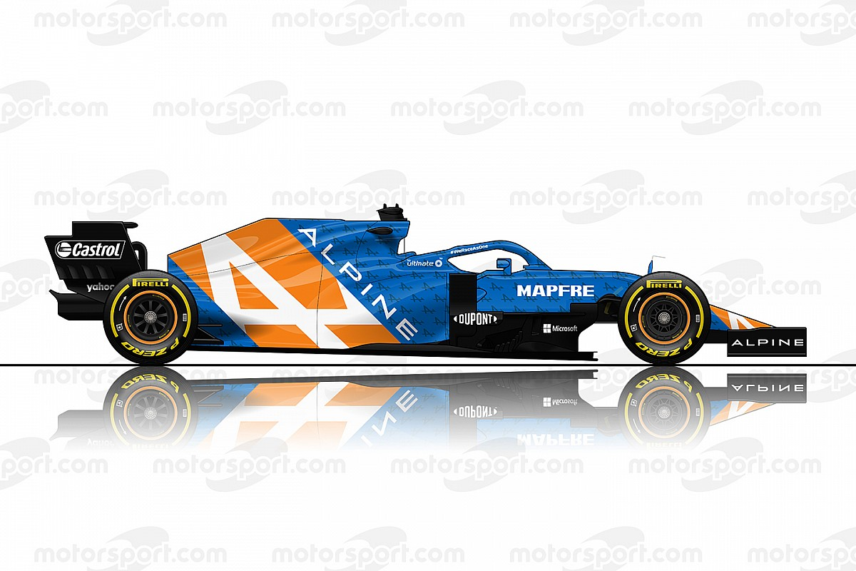 Alpine F1 2021 design motorsport 1