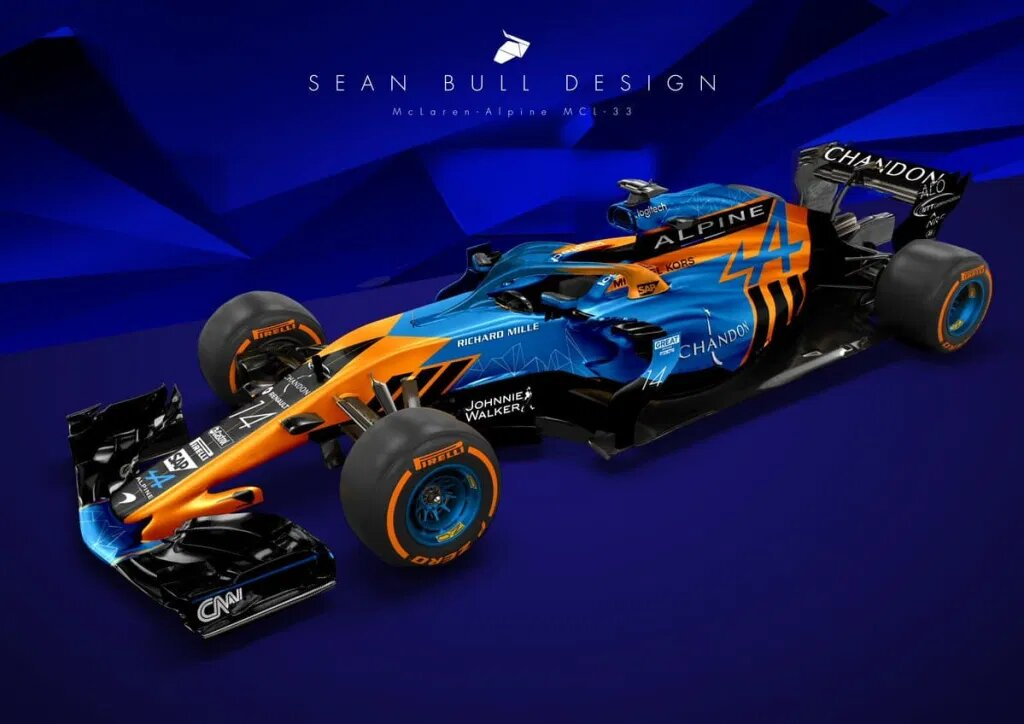 Alpine F1 2021 design sean bull