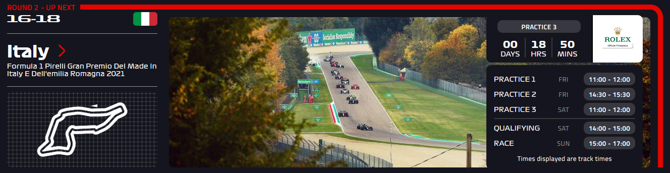 Imola F1 2021 horaires